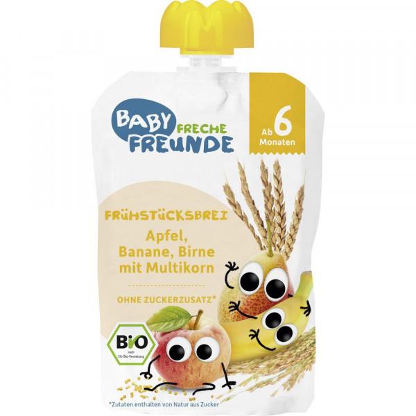 """Bio Frühstücksbrei """"Quetschie"""", Apfel, Banane, Birne mit Multikorn"""