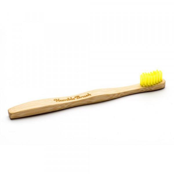 Kinder Bambus-Zahnbürste gelb, extra weich