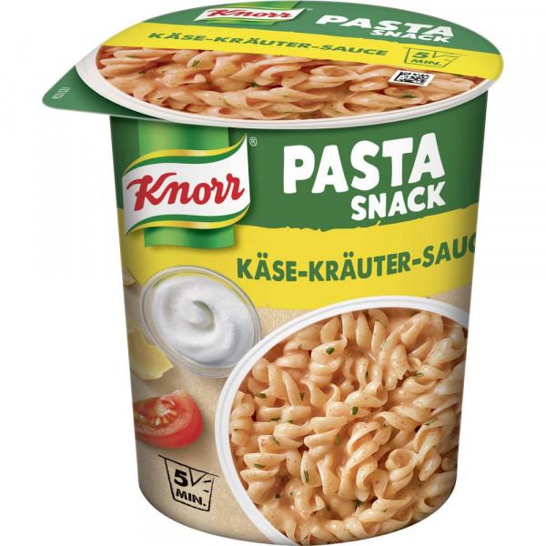 Pasta Snack, Käse-Kräuter-Sauce