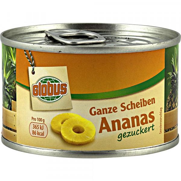 Ananas Scheiben, gezuckert