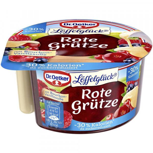 Rote Grütze mit Vanille-Soße, -30% Kalorien