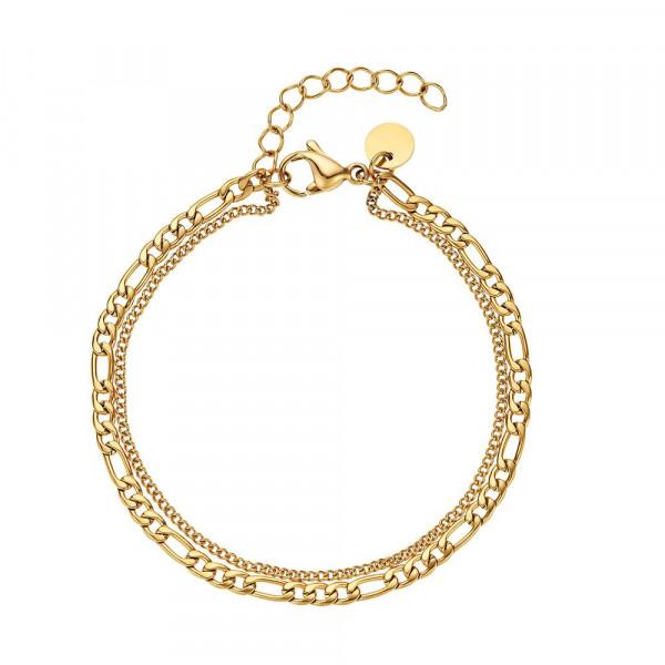 Damen Armband aus Edelstahl, vergoldet (4056874024419)