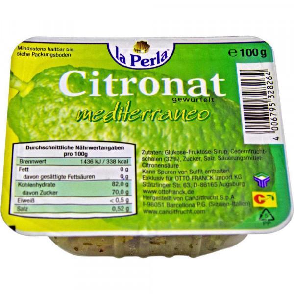 Citronat, gewürfelt