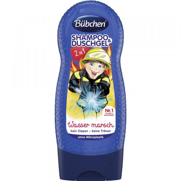 Kinder 2in1 Shampoo + Duschgel, Wasser marsch