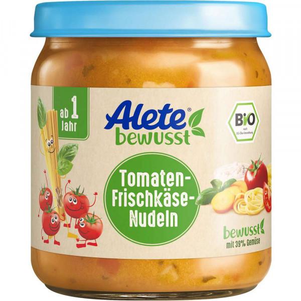 Babynahrung, Bio Tomaten-Frischkäse Nudeln