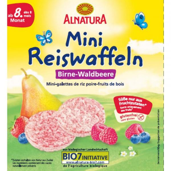 Bio Mini-Reiswaffel, Birne-Waldbeere