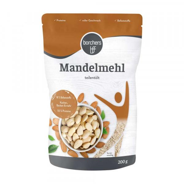 Mandelmehl, teilentölt