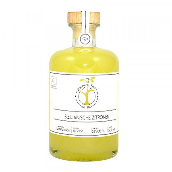 Sizilianische Zitronen Likör 25%