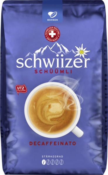 Schüümli Kaffee Decaffeinato, ganze Bohne entkoffeiniert