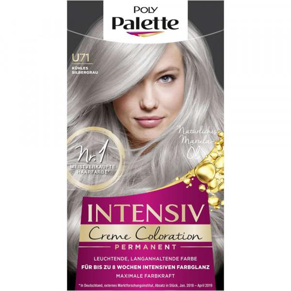 Haarfarbe, U71 kühles Silbergrau