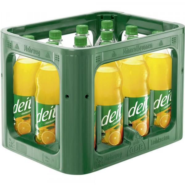 Orangen Limonade, zuckerfrei (12 x 1 Liter)