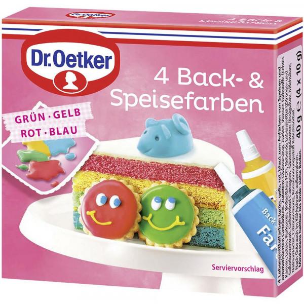 4 Back- & Speisefarben