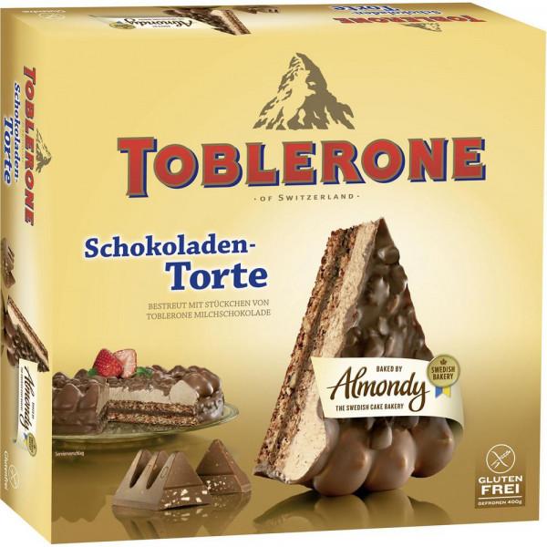 Schoko-Mandeltorte mit Toblerone, tiefgekühlt