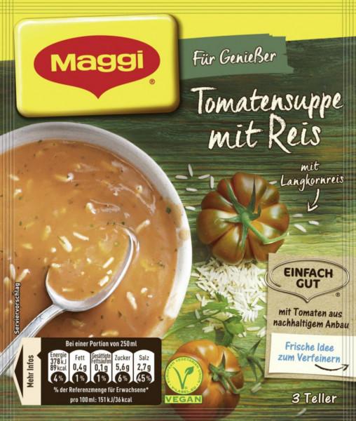 Genießer Suppe, Tomaten mit Reis