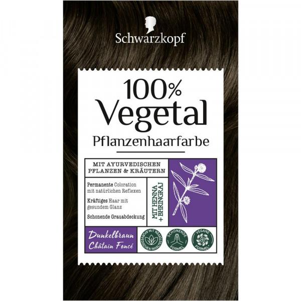 "Pflanzenhaarfarbe ""Vegetal"", Dunkelbraun"