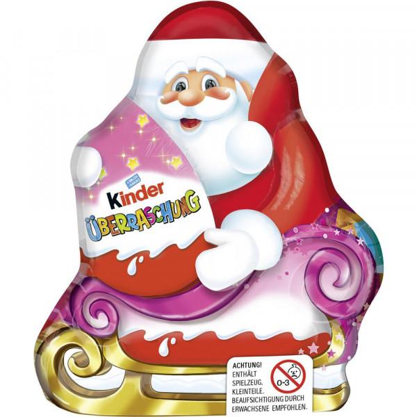 Schokoladen-Weihnachtsmann mit Überraschungsei für Mädchen