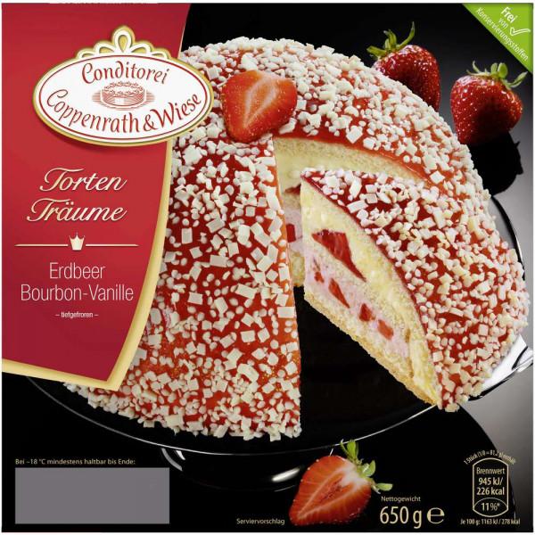Tortenträume, Erdbeere-Bourbon-Vanille, tiefgekühlt