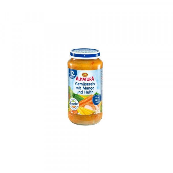 Gemüsereis mit Mango und Huhn