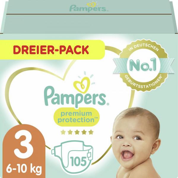 Windeln Premium Protection Gr. 3, 6-10kg Dreierpack