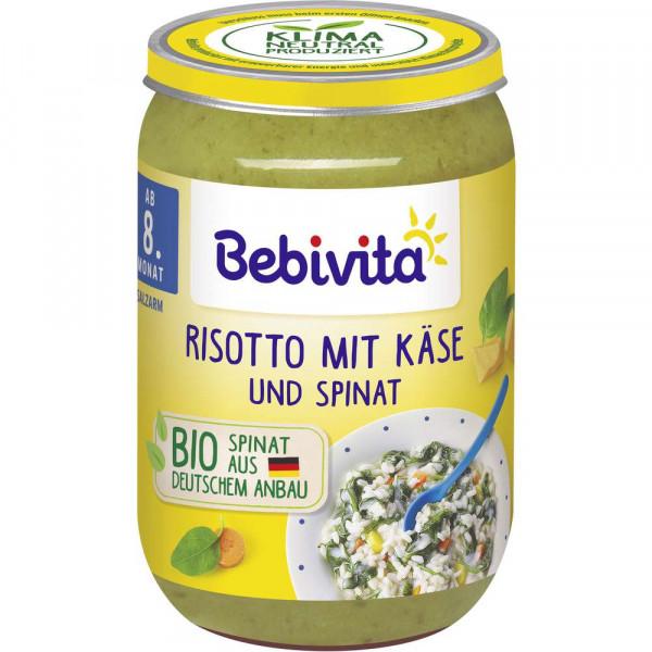 "Babynahrung ""Menü"", Risotto mit Käse & Spinat"