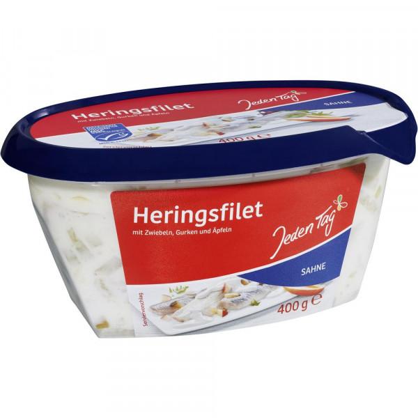 "Heringsfilet ""Sahne"", Zwiebel, Gurke & Äpfel"