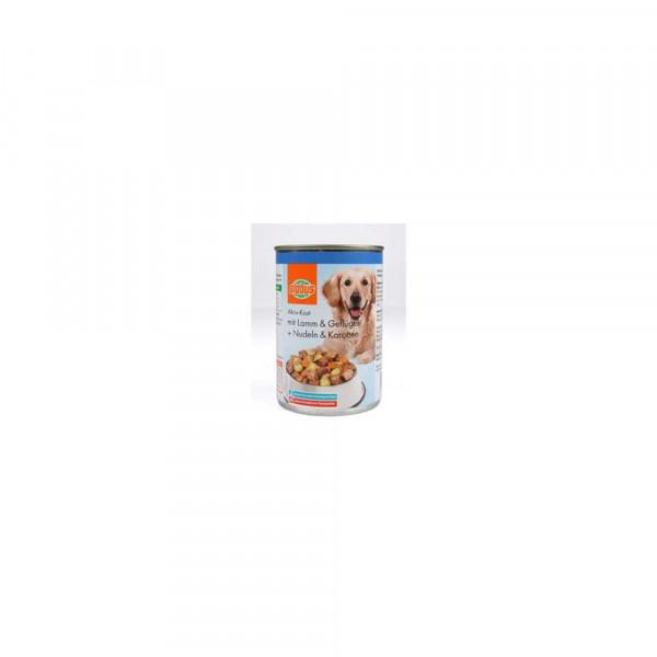 Hundefutter Aktiv Kost, Lamm & Geflügel + Nudeln & Karotten