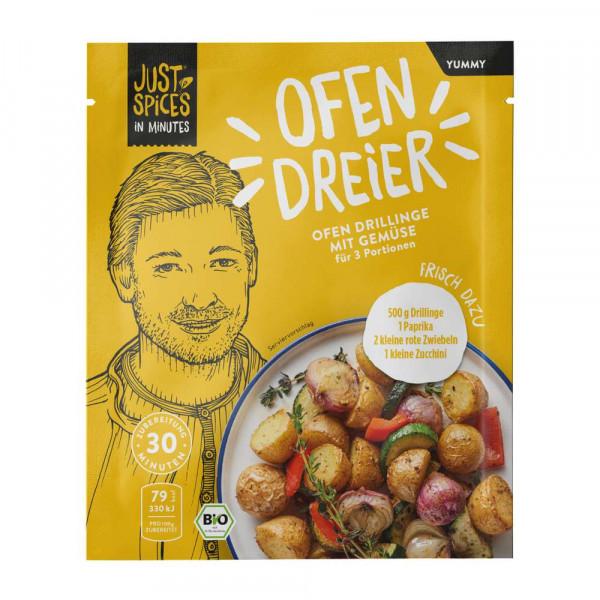 """Bio Gewürzmischung """"Ofen Dreier"""", Drillinge mit Gemüse"""