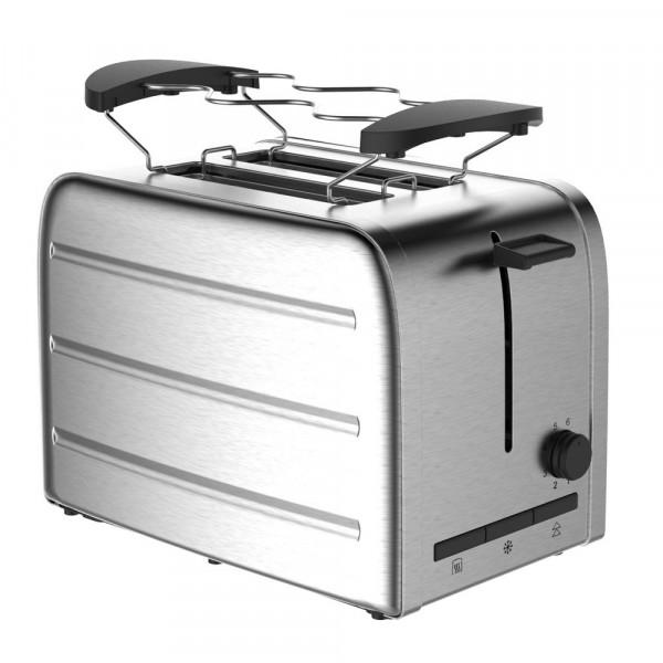 Toaster, Wiedererwärmung+Entfrostfunktion, Edelstahl