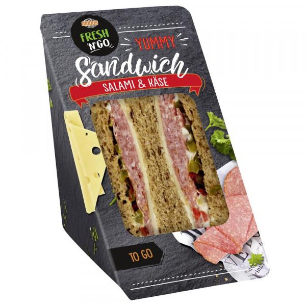Sandwich Salami-Käse