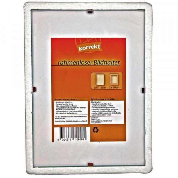 Rahmenloser Bildhalter, 10,5x15cm
