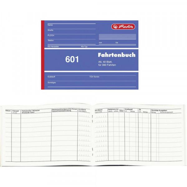 """Fahrtenbuch """"601"""" A6 für 390 Fahrten"""