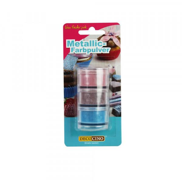 Farbpulver Metallic, blau/flieder/pink