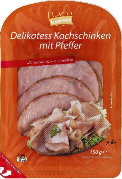 Delikatess Kochschinken mit Pfeffer