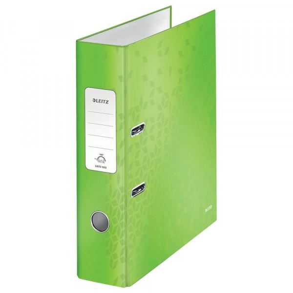 Ordner, grün, Kunststoff, A4, 8cm