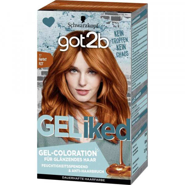 "Gel-Haarfarbe ""got2b"", 7.7 Herbstrot"