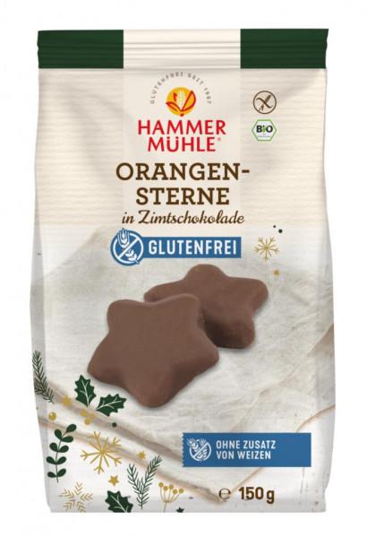Bio Orangensterne in Zimtschokolade