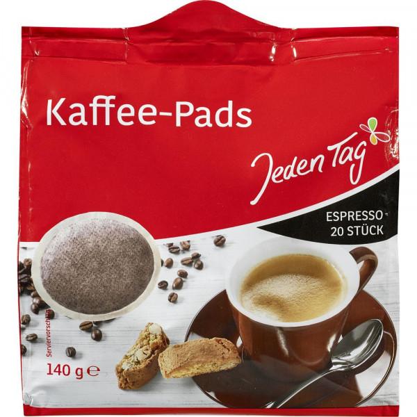 Kaffee-Pads, Espresso