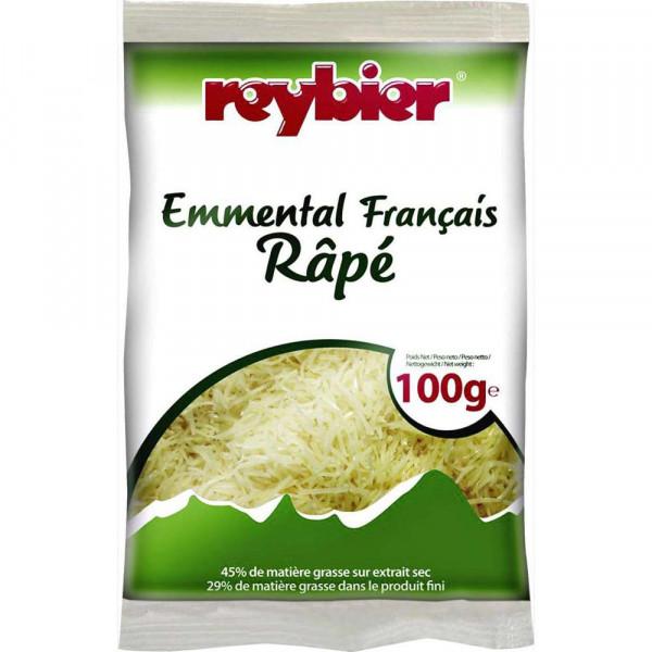 Französischer Emmentaler gerieben