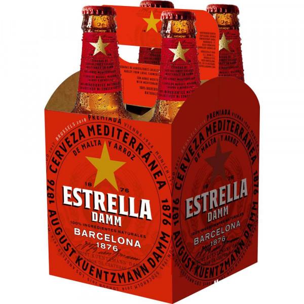 Bier Estrella 4x0,33l MW (6 x 1.32 Liter)