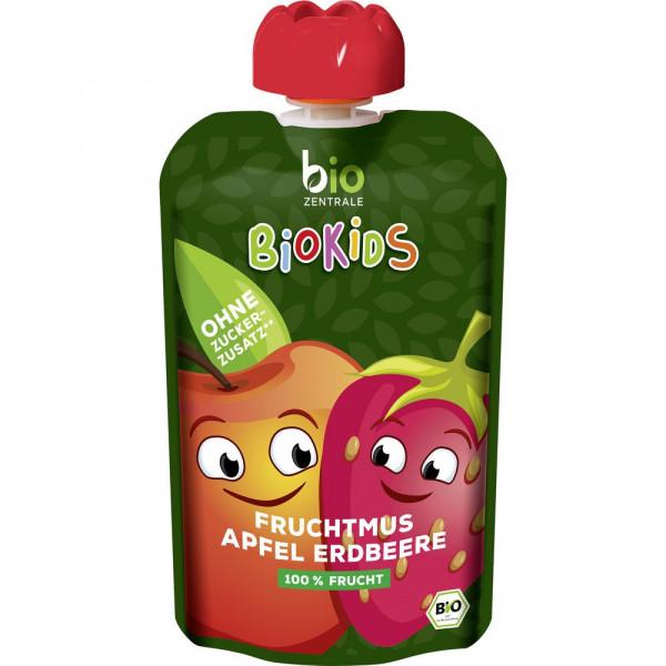 BioKids Fruchtmus, Apfel-Erdbeere