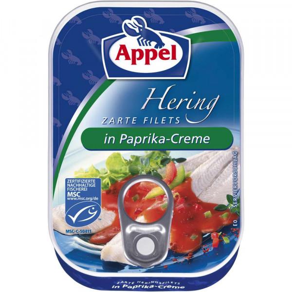 Heringsfilets in Paprika-Creme