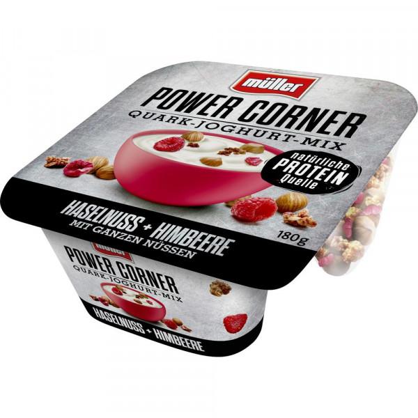 "Quark-Joghurt-Mix ""Power Corner"", Haselnuss-Himbeere"