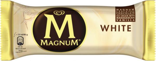 Magnum weiße Schokolade Eis