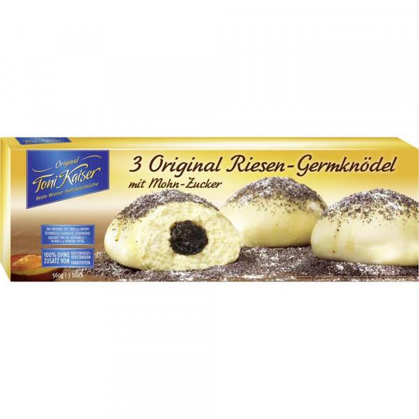 Original Riesen-Germknödel, Mohn-Zucker