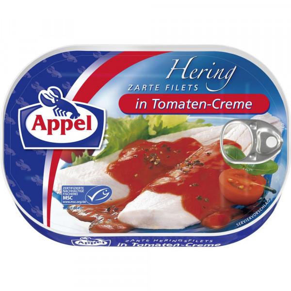 Heringsfilets, Tomate