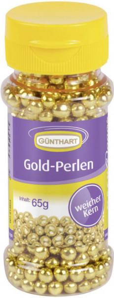 Glanz-Perlen, gold