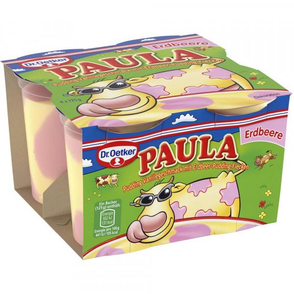 """Pudding """"Paula"""", Vanille mit Erdbeerflecken"""