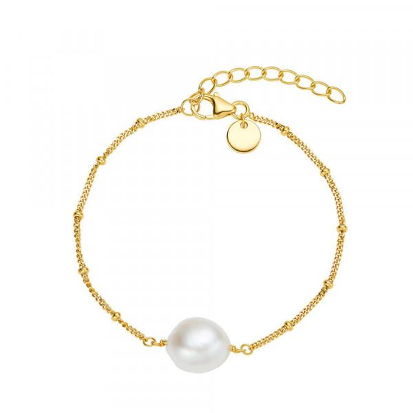 Damen Armband aus Silber 925 mit Süßwasserzuchtperle, vergoldet (2030115)