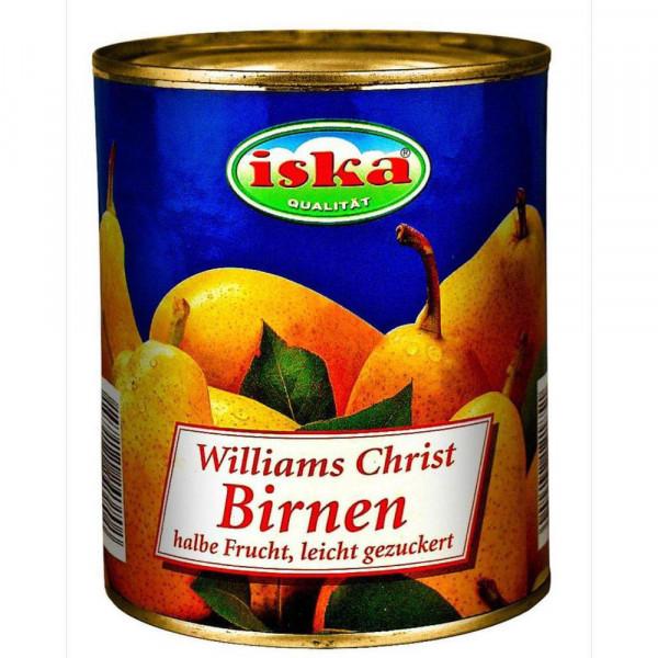 Williams Christ Birnen halbe Frucht, leicht gezuckert