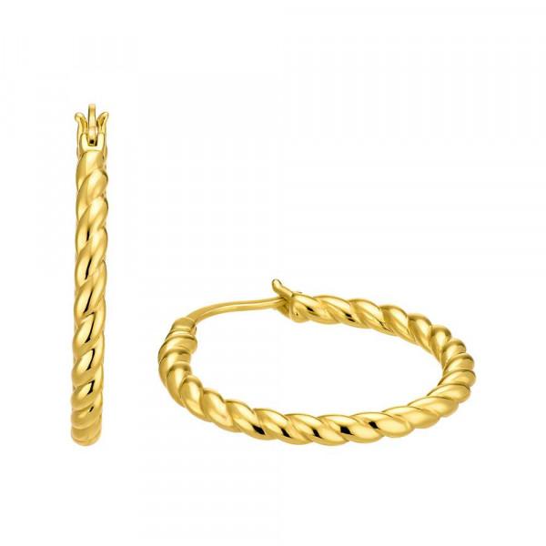 Ohrringe/ Creolen aus Silber 925, vergoldet (4056866094277)